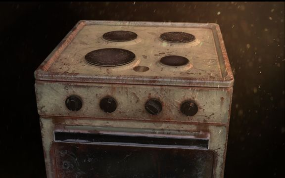 Rusty old oven