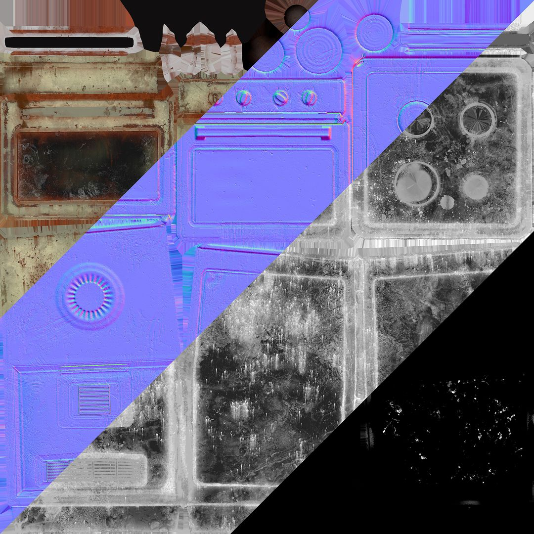 Rusty old oven uvmaps jpg