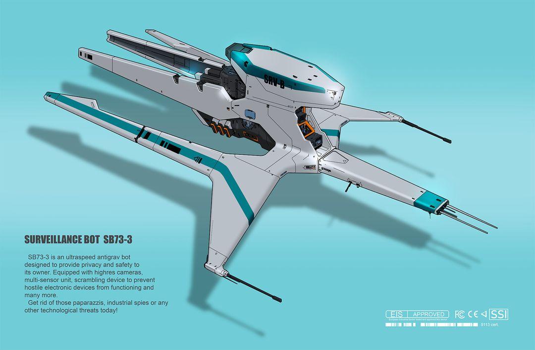 Surveillance Bot SB 73-3 alexey rubakin surveillance drone 1920 jpg
