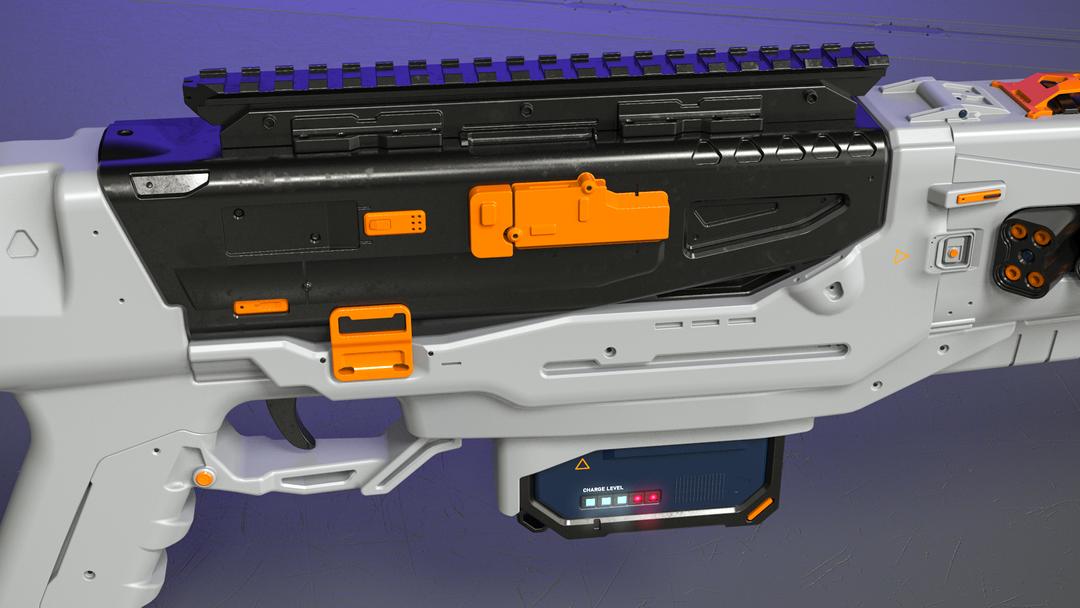 Electromagnetic assault rifle concept em assault rifle mainpart closeup png