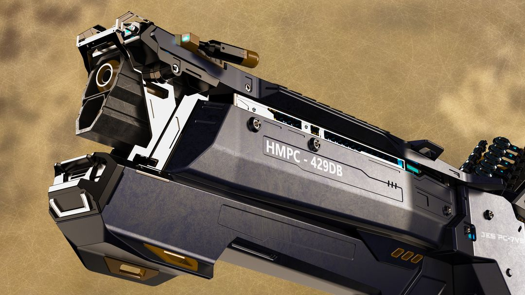 HMPC-429DB heavymech plasma cannon barrel and details jpg