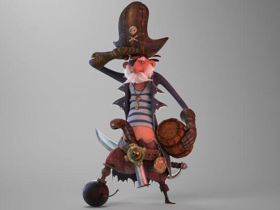 stylized pirate