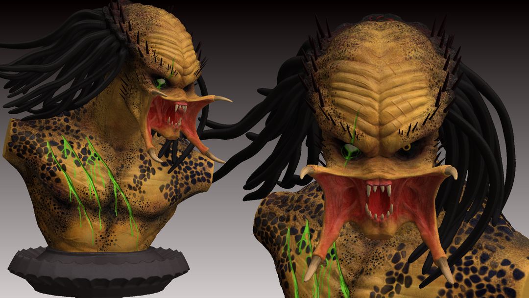 Predator Bust predator zbrush render 6 png