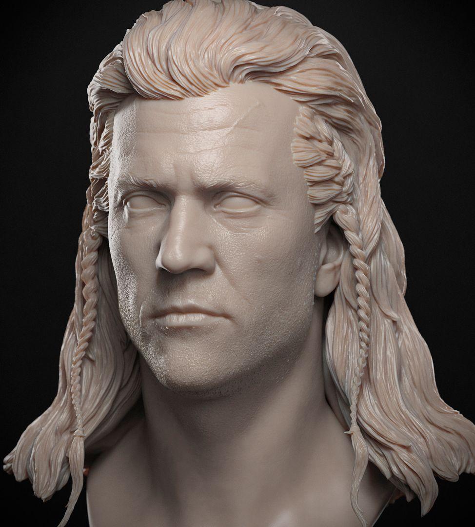 Mel Gibson Sculpt Mel Gibson BraveHeart 01 jpg