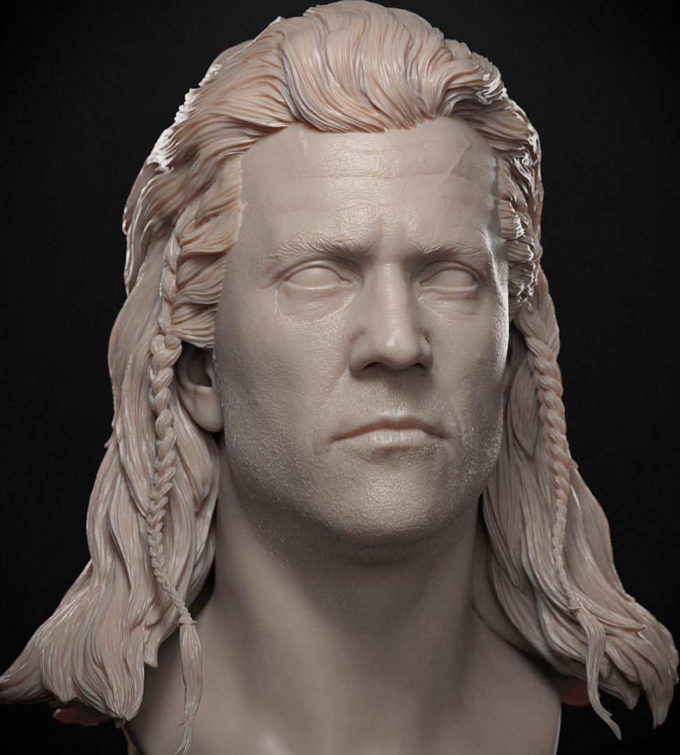 Mel Gibson Sculpt Mel Gibson BraveHeart 03 jpg