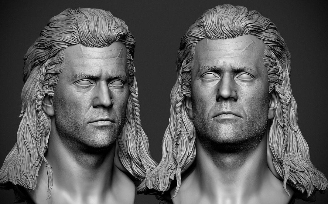 Mel Gibson Sculpt Mel Gibson BraveHeart 04 jpg