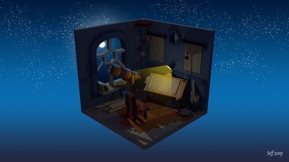 Little astronomer's room