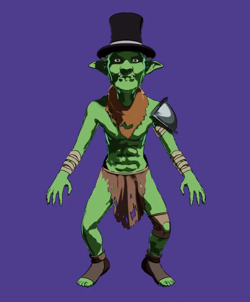 Cel-shaded Goblin Character Screenshot 3 png