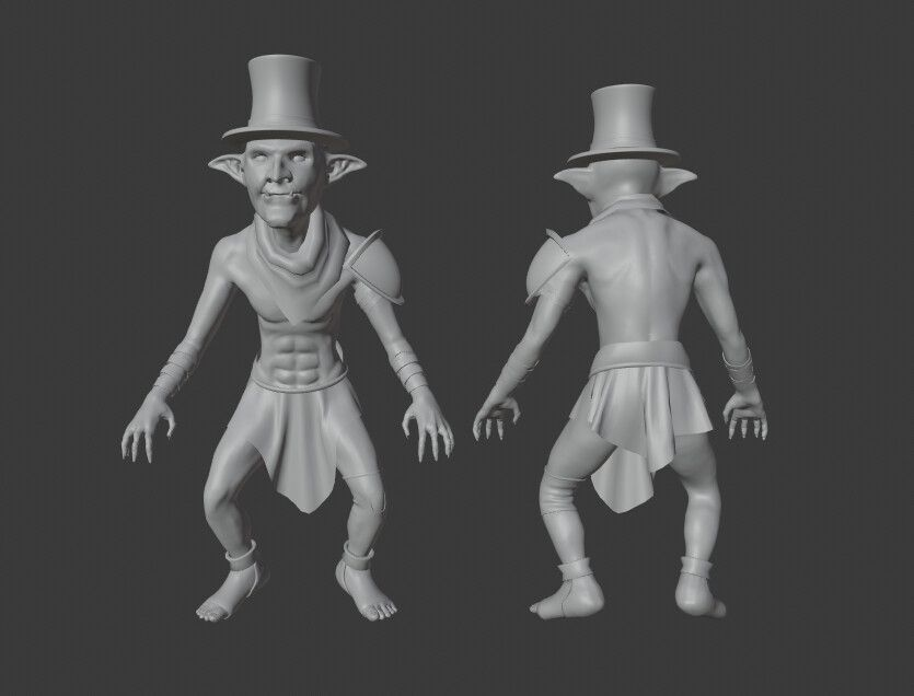 Cel-shaded Goblin Character leonardo madona sculpt jpg