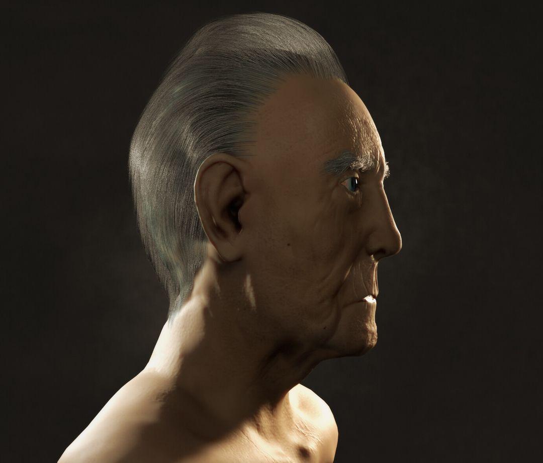 OId Man Bust Sculpt leonardo madona render 0 jpg