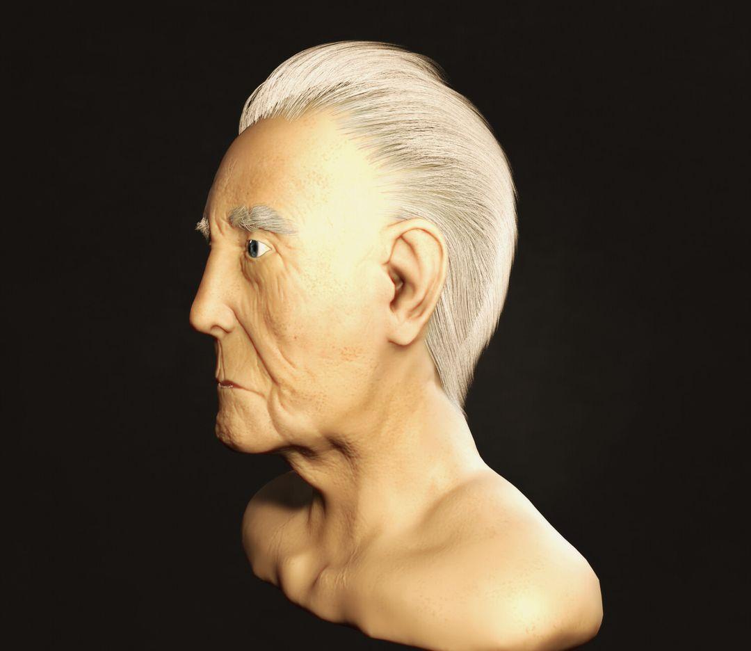 OId Man Bust Sculpt leonardo madona render 2 jpg