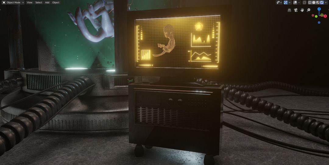 Alien Chamber - Short Animation leonardo madona screenshot 5 jpg