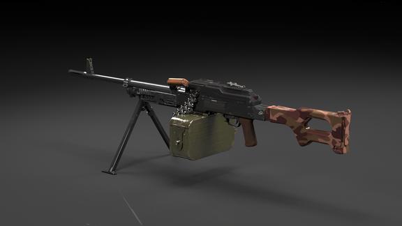 PKM Machine gun modeling