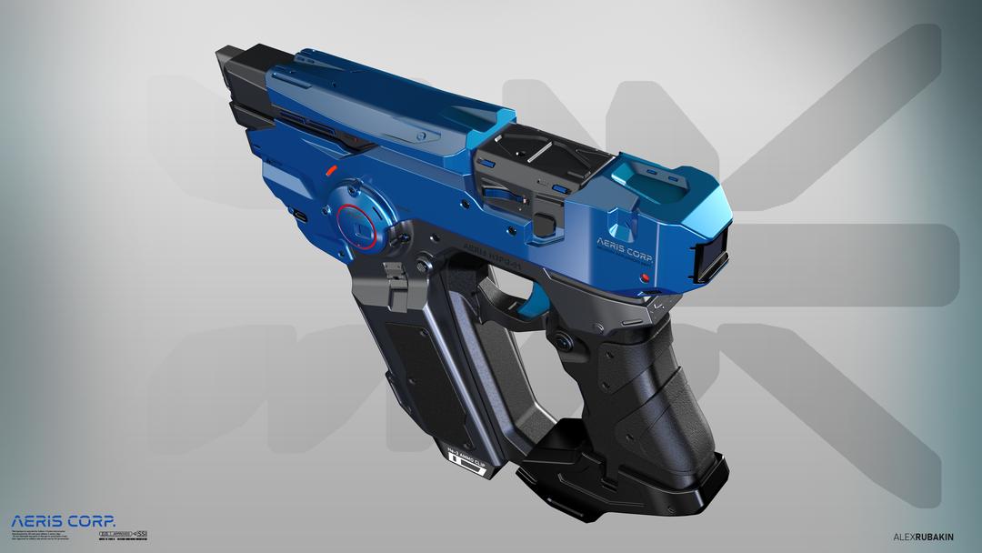 Aeris H3PG-01 Plasma Handgun He3 Plasma Handgun alternative colors png