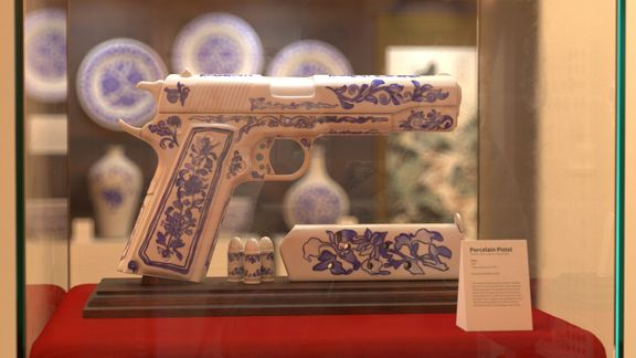 Porcelain 1911 - First place in Three D Guns 2 Challenge