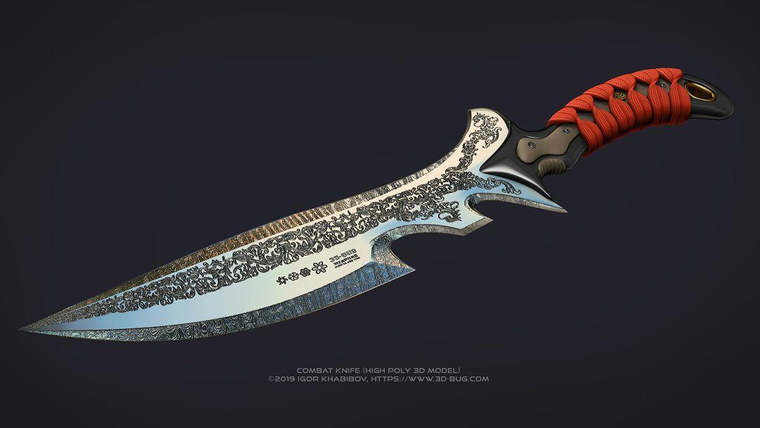 Combat knife, my own concept. igor khabibov combat knife1 jpg