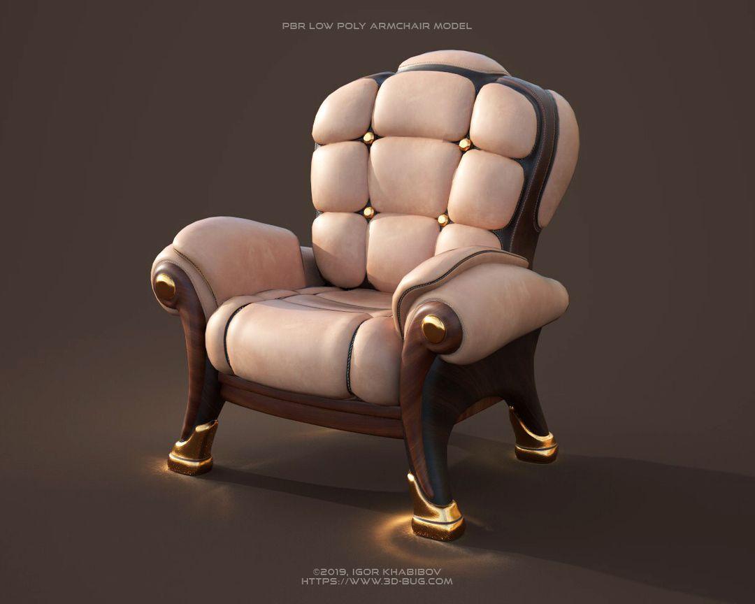 Armchair PBR igor khabibov armchair 1 pbr 003 jpg