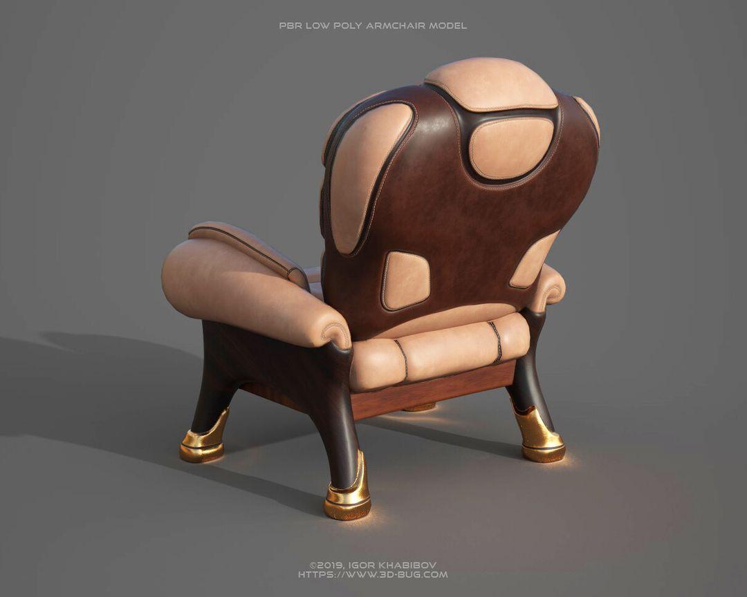 Armchair PBR igor khabibov armchair 1 pbr 005 jpg