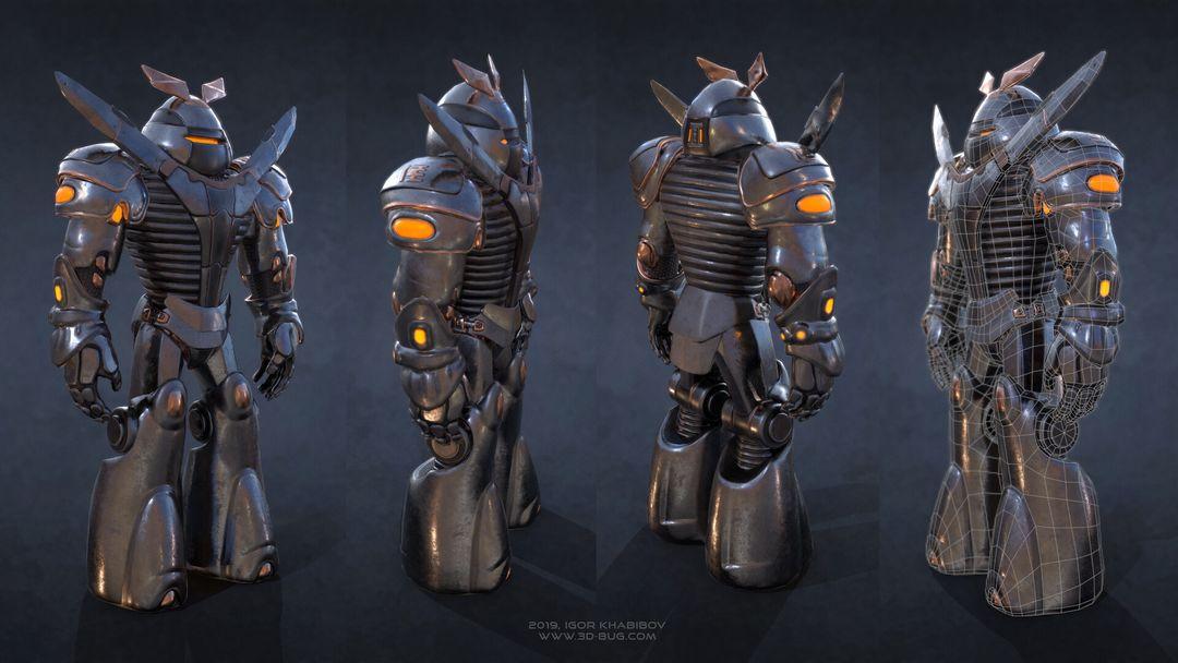 Sci-Fi Robot Fighter igor khabibov robot 0000 jpg