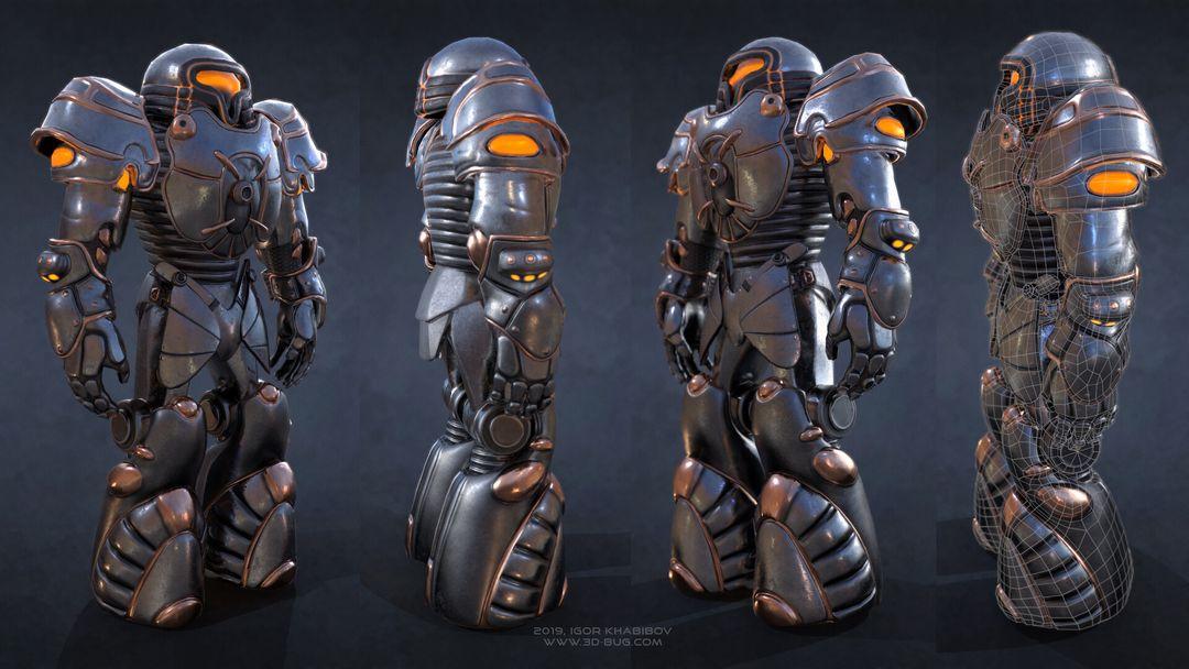 Sci-Fi Robot Fighter igor khabibov robot 0001 jpg