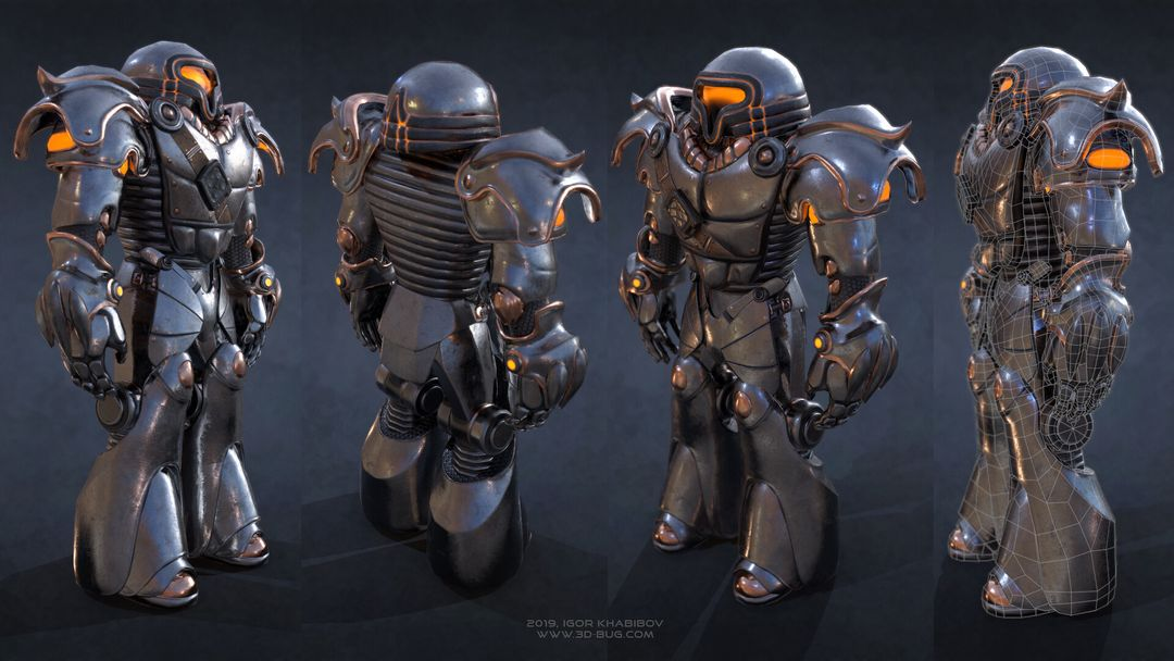 Sci-Fi Robot Fighter igor khabibov robot 0002 jpg