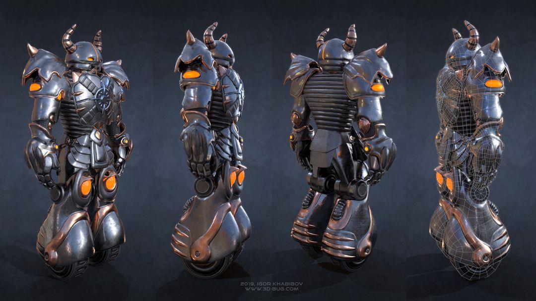 Sci-Fi Robot Fighter igor khabibov robot 0003 jpg