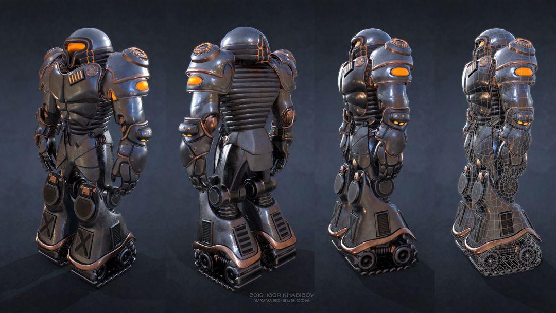 Sci-Fi Robot Fighter igor khabibov robot 0004 jpg