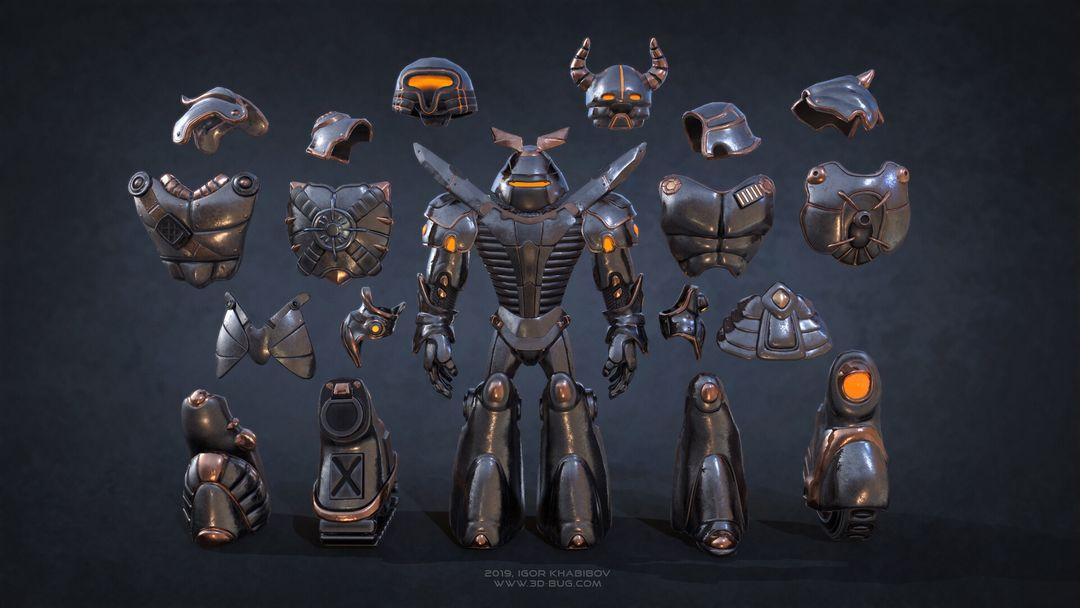 Sci-Fi Robot Fighter igor khabibov robot 0005 jpg