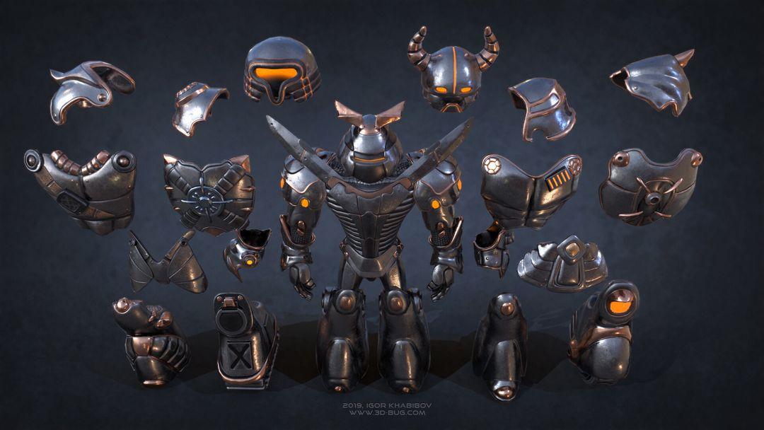 Sci-Fi Robot Fighter igor khabibov robot 0006 jpg