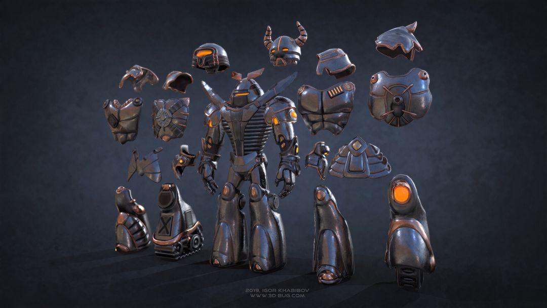 Sci-Fi Robot Fighter igor khabibov robot 0007 jpg