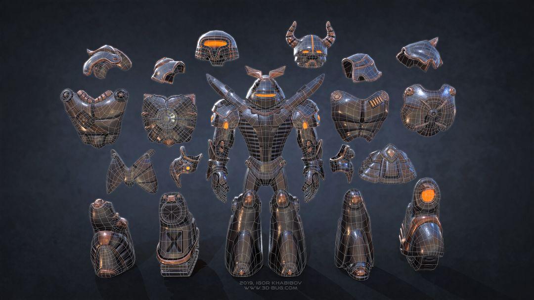 Sci-Fi Robot Fighter igor khabibov robot 0008 jpg