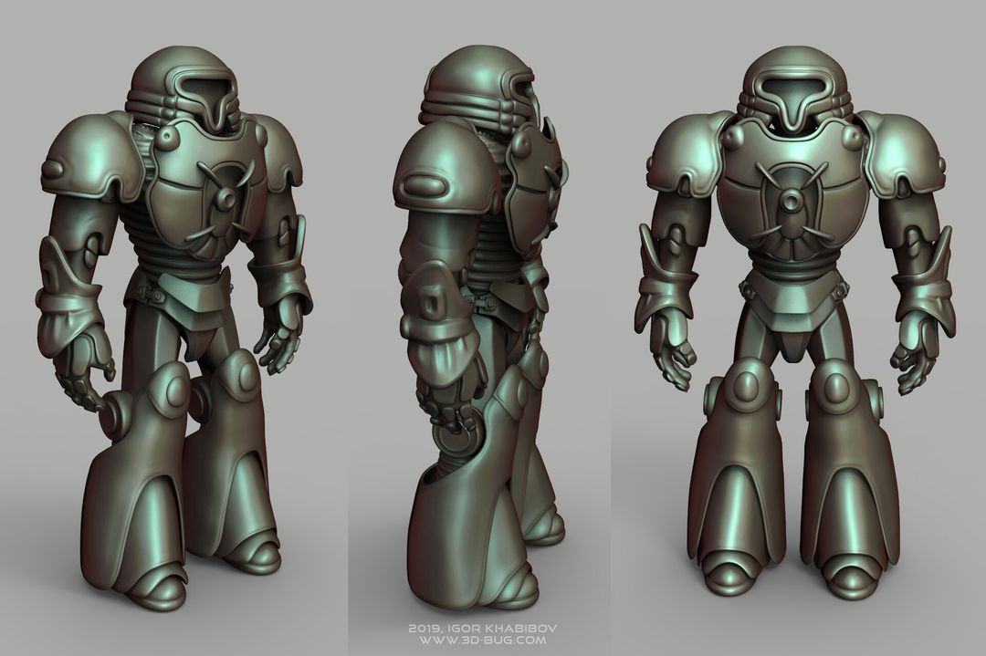 Sci-Fi Robot Fighter igor khabibov robot 0010 jpg