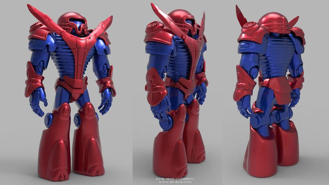 Sci-Fi Robot Fighter igor khabibov robot 0011 jpg