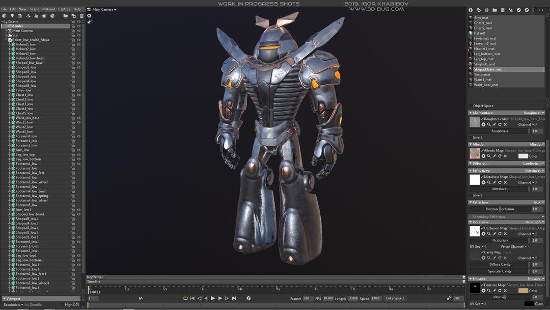 Sci-Fi Robot Fighter igor khabibov robot 0014 jpg