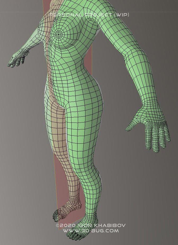 Stylized character (WIP) igor khabibov post 003 jpg