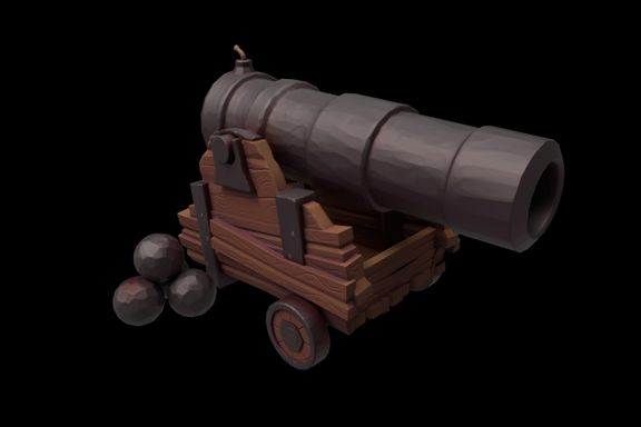Stylised Ship Cannon