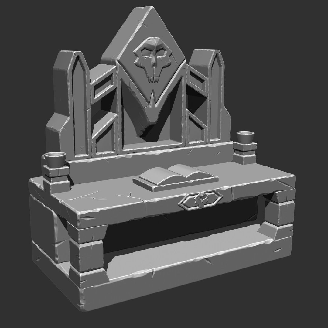 Stylized Sculpting debjit biswas altar jpg