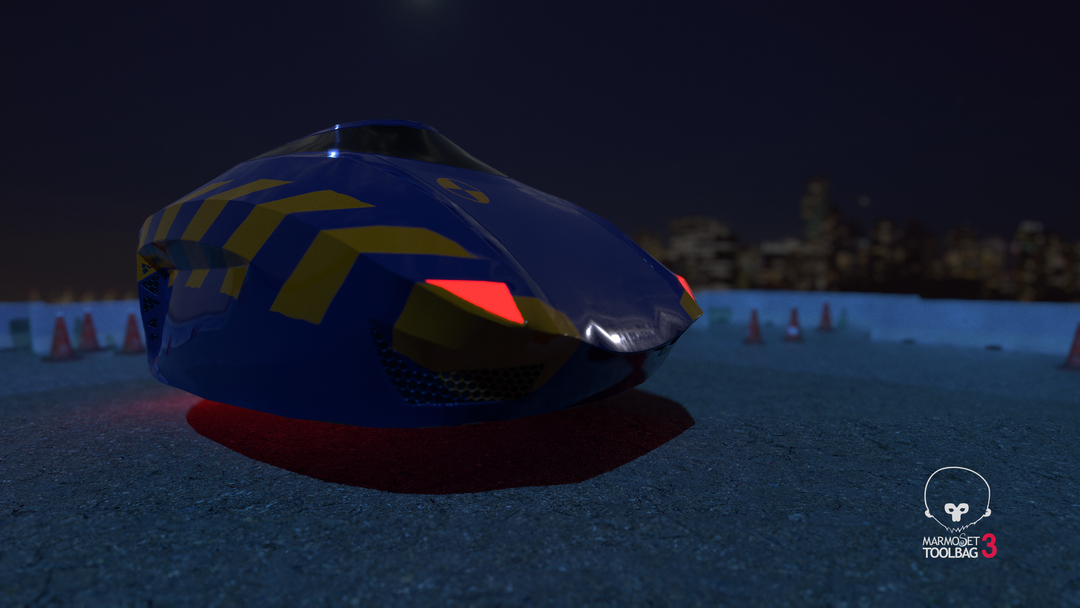 Low-Poly Hover Craft 3 png