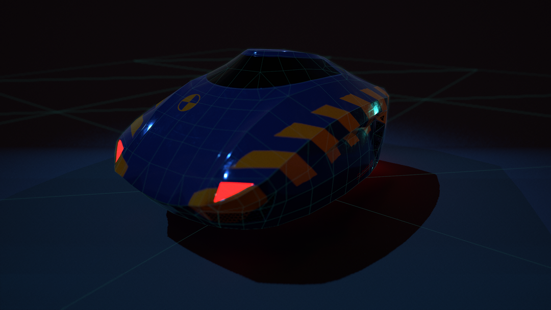 Low-Poly Hover Craft 4 png