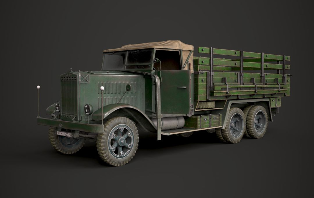 WW2 German Krupp L3H163 Truck 1 jpg