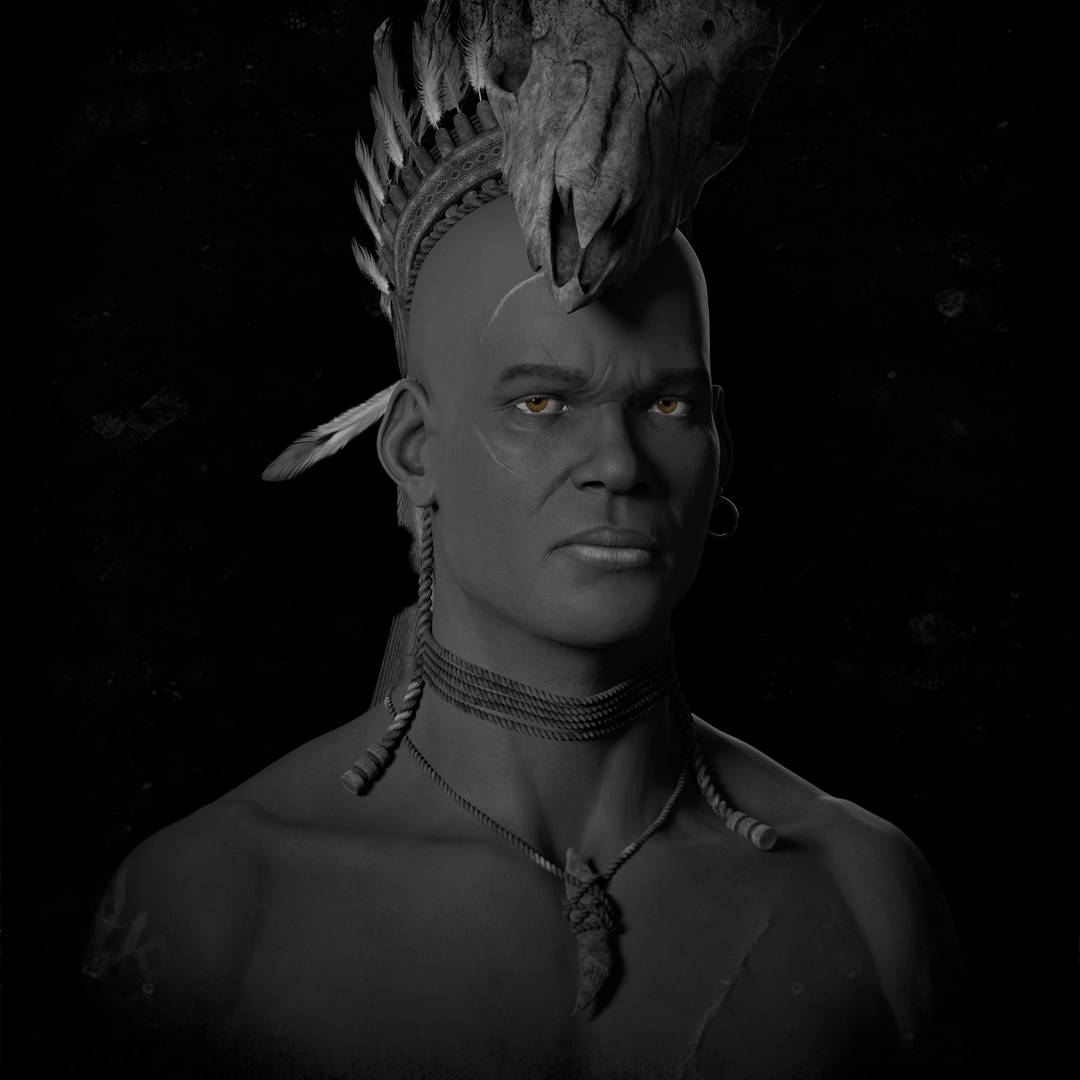 Anger, the son of fear. perso03 greyscale png