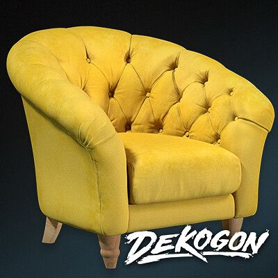 Yellow Armchair Prop - CG Hero