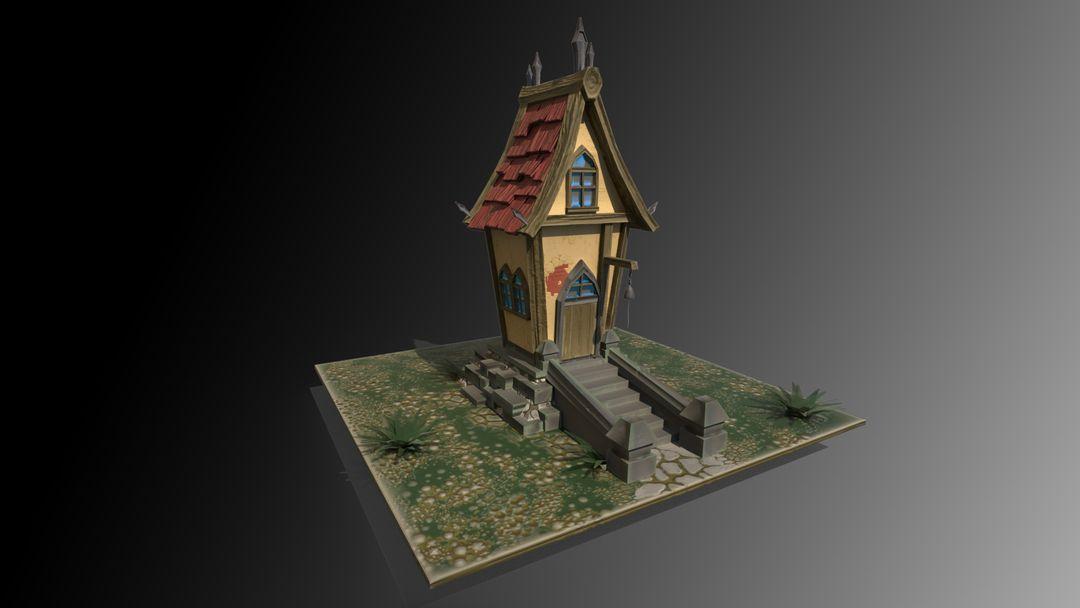 Stylized Village house antonios syrakoulis render 1 jpg