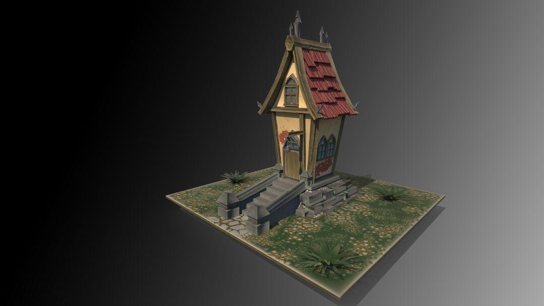 Stylized Village house antonios syrakoulis render 2 jpg