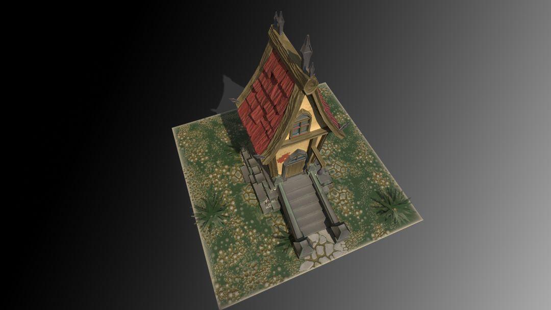 Stylized Village house antonios syrakoulis render 3 jpg
