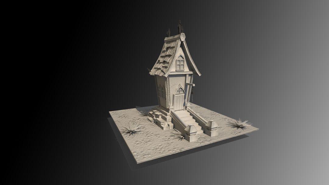 Stylized Village house antonios syrakoulis render mat 1 jpg