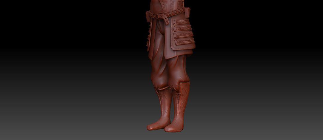 Armor Sculpted for Uni project antonios syrakoulis armor legs jpg