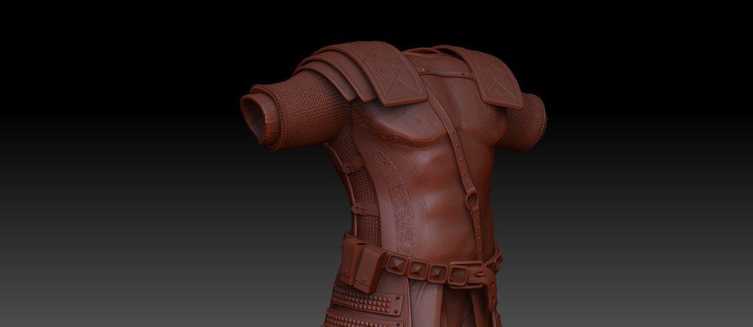 Armor Sculpted for Uni project antonios syrakoulis armor jpg
