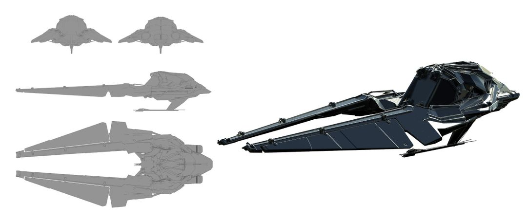 Sci-Fi Ship Concept Design broady blackwell speeder wip jpg