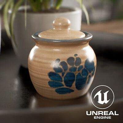 Hand Painted Clay Jar